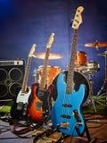 Guitarra-baixo, ritmo, ligação Imagem de Stock Royalty Free