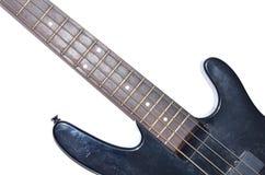 Guitarra baja eléctrica aislada en el fondo blanco Imágenes de archivo libres de regalías
