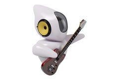 Guitarra bonito do robô da ficção científica Foto de Stock