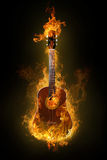Guitarra caliente ilustración del vector