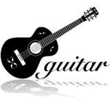 Guitarra clásica ilustración del vector