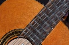 Guitarra clássica, detalhe Fotografia de Stock Royalty Free