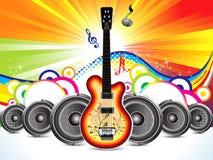 Guitarra colorida abstrata com conceito sadio ilustração do vetor