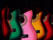 Guitarra coloridas Foto de Stock