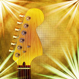 Guitarra com fundo Foto de Stock Royalty Free