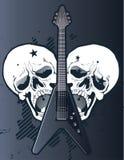 Guitarra con los cráneos Fotos de archivo