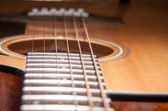 Guitarra da acústica Imagem de Stock