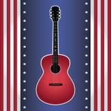 Guitarra da bandeira dos EUA Foto de Stock Royalty Free