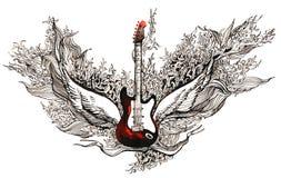 Guitarra da rocha ilustração stock