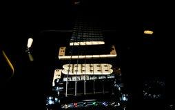 Guitarra da rocha de Balck Foto de Stock Royalty Free