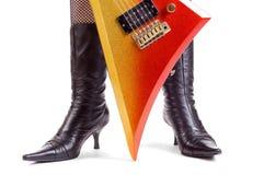 Guitarra da rocha de Glitter Foto de Stock