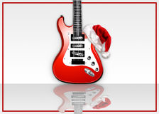 Guitarra da rocha do Natal Fotografia de Stock