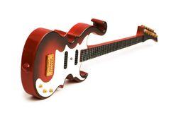 Guitarra da rocha isolada Foto de Stock
