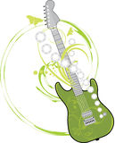 Guitarra da rocha isolada no branco Foto de Stock Royalty Free