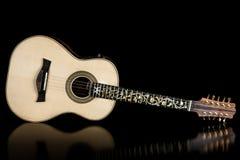 Guitarra de acero de las secuencias del brasileño diez Foto de archivo libre de regalías