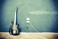 Guitarra de Grunge Imagenes de archivo