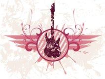 Guitarra de Grunge Fotografía de archivo libre de regalías