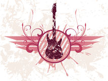 Guitarra de Grunge Fotografia de Stock Royalty Free
