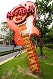 Guitarra de Hard Rock Cafe en Ho Chi Minh (Saigon) Vietnam fotografía de archivo libre de regalías