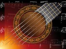 Guitarra de la música Fotografía de archivo libre de regalías
