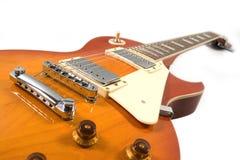 guitarra de la naranja de los azules imagenes de archivo