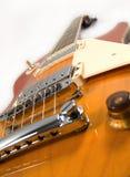 Guitarra de la naranja de los azules imagen de archivo