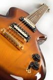 Guitarra de la naranja de los azules fotos de archivo