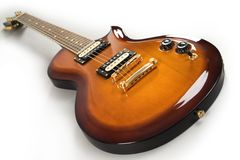 Guitarra de la naranja de los azules imágenes de archivo libres de regalías