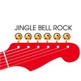 Guitarra de la Navidad Fotos de archivo