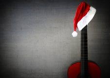 Guitarra de la Navidad del Año Nuevo Fotos de archivo