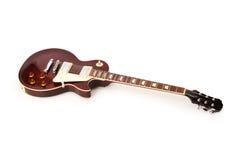 Guitarra de la roca aislada Imagenes de archivo