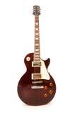 Guitarra de la roca aislada Imagen de archivo libre de regalías
