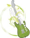 Guitarra de la roca aislada en el blanco Foto de archivo libre de regalías