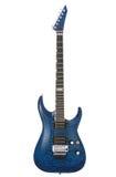 Guitarra de la roca azul fotografía de archivo libre de regalías