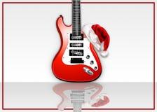 Guitarra de la roca de la Navidad Fotografía de archivo