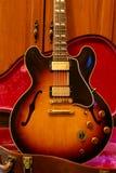 Guitarra de la vendimia de Gibson ES 345 Imagen de archivo libre de regalías