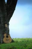 Guitarra de los árboles n Imagen de archivo libre de regalías