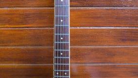 Guitarra de madeira Close-up da guitarra Foto de Stock Royalty Free