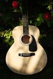 Guitarra de madera Imagen de archivo libre de regalías