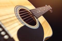 Guitarra de madera acústica Imagen de archivo