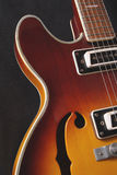 Guitarra de Semi-HollowBody Foto de Stock Royalty Free