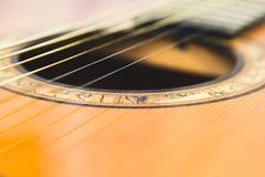 Guitarra del agujero de sonidos fotos de archivo libres de regalías