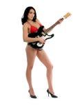 Guitarra del bikiní imagenes de archivo