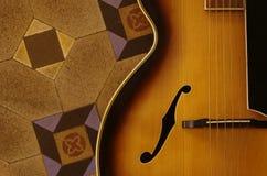 Guitarra do jazz foto de stock royalty free