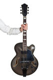 Guitarra do jazz Fotos de Stock Royalty Free