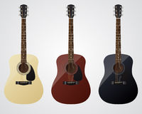 Guitarra do vetor Imagens de Stock