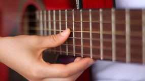 Guitarra e adoração Fotos de Stock Royalty Free