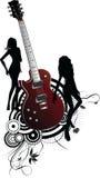 Guitarra e mulher Foto de Stock Royalty Free