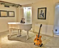 Guitarra e piano, Beatles fotografia de stock