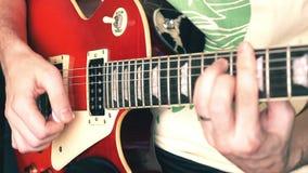 Guitarra eléctrica almacen de video
